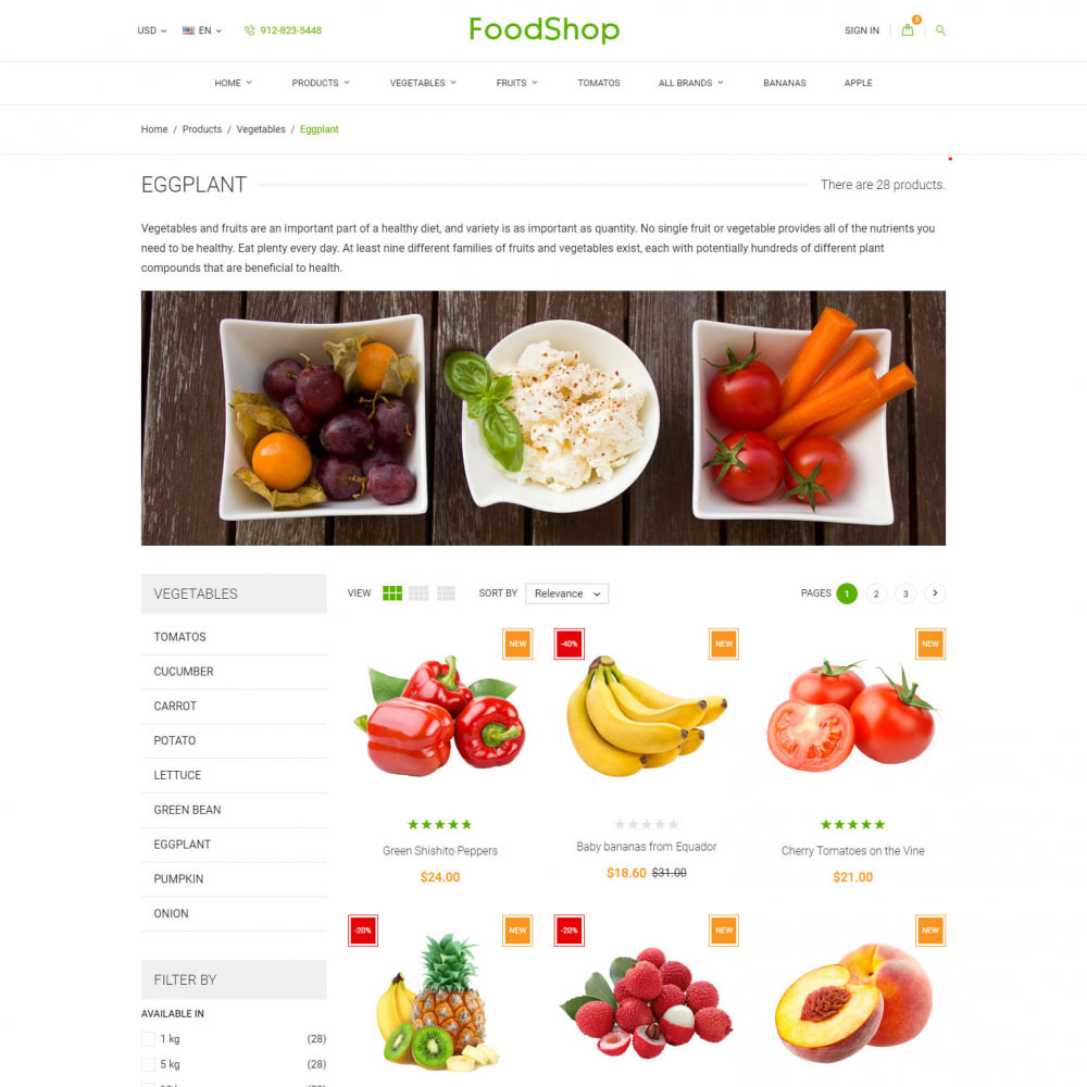 theme - Food & Restaurant - Organic Garden - Food Store - 3