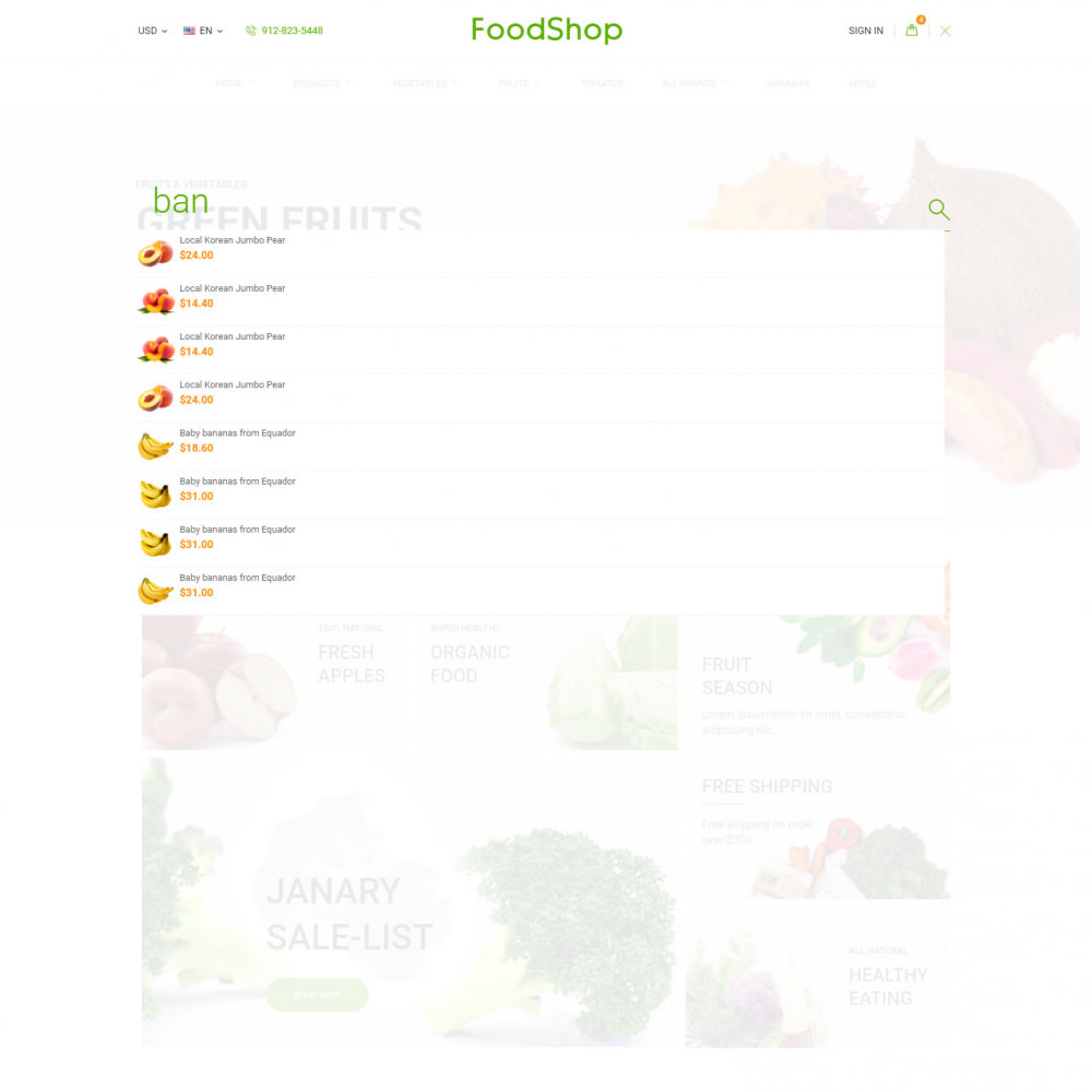 theme - Food & Restaurant - Organic Garden - Food Store - 7