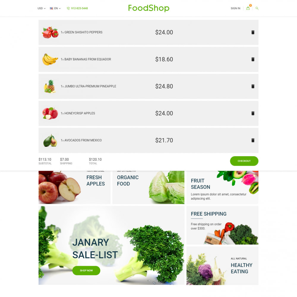 theme - Food & Restaurant - Organic Garden - Food Store - 9