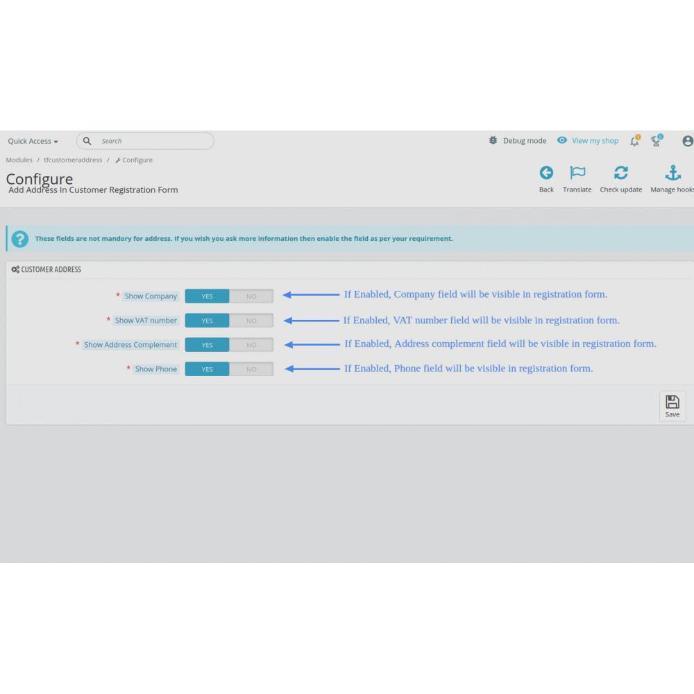 module - Cadastro e Processo de Pedido - Add Customer Address On Registration Form - 2