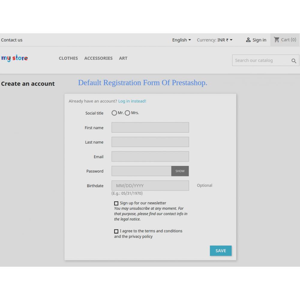 module - Cadastro e Processo de Pedido - Add Customer Address On Registration Form - 3