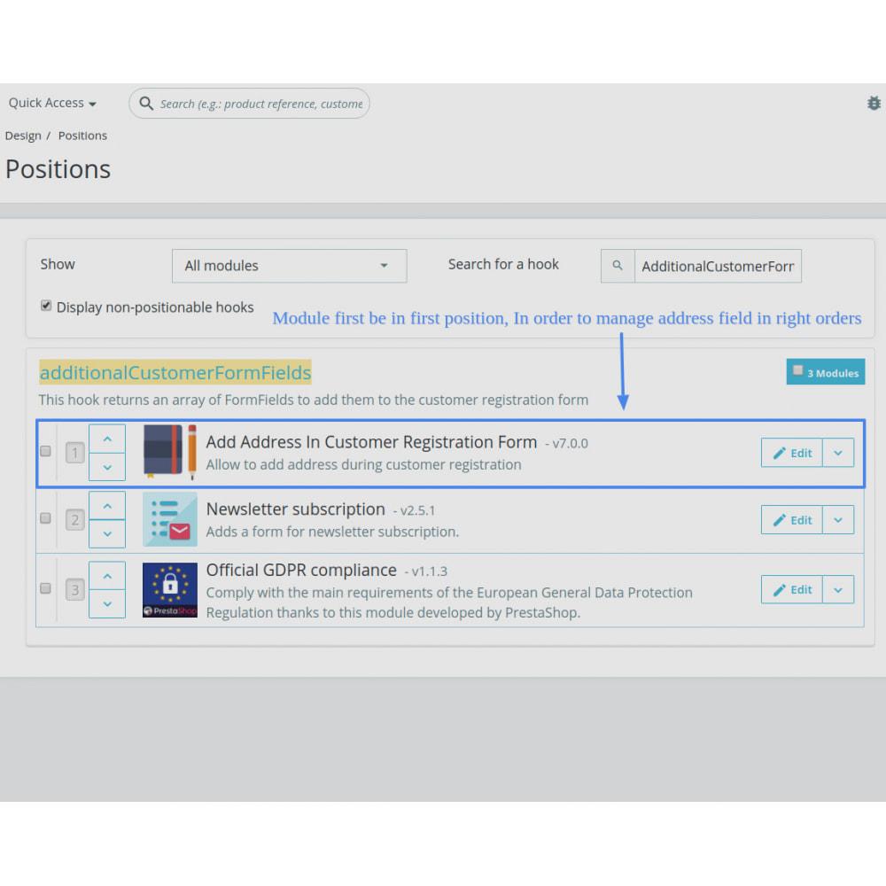 module - Cadastro e Processo de Pedido - Add Customer Address On Registration Form - 5