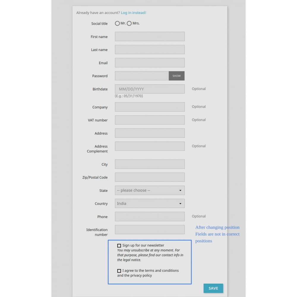 module - Cadastro e Processo de Pedido - Add Customer Address On Registration Form - 6