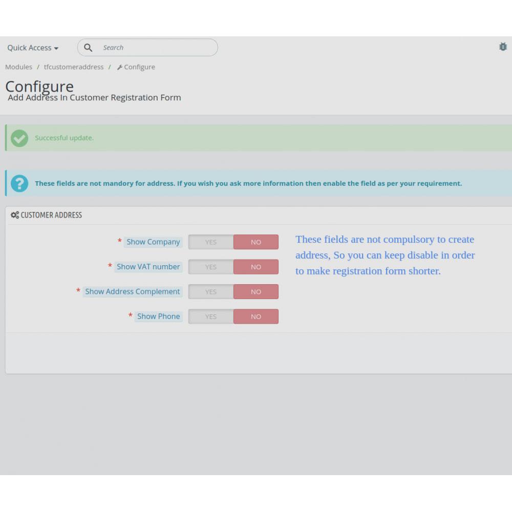 module - Cadastro e Processo de Pedido - Add Customer Address On Registration Form - 7