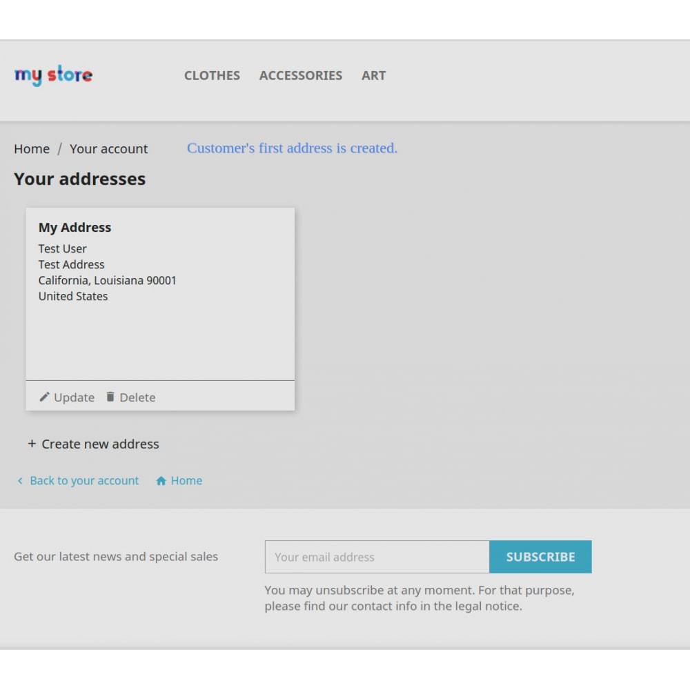 module - Cadastro e Processo de Pedido - Add Customer Address On Registration Form - 12