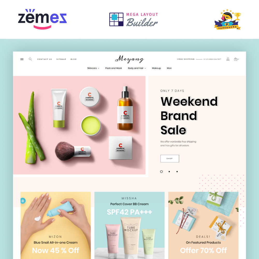 theme - Salute & Bellezza - Meyang - Korean Cosmetics Shop - 2