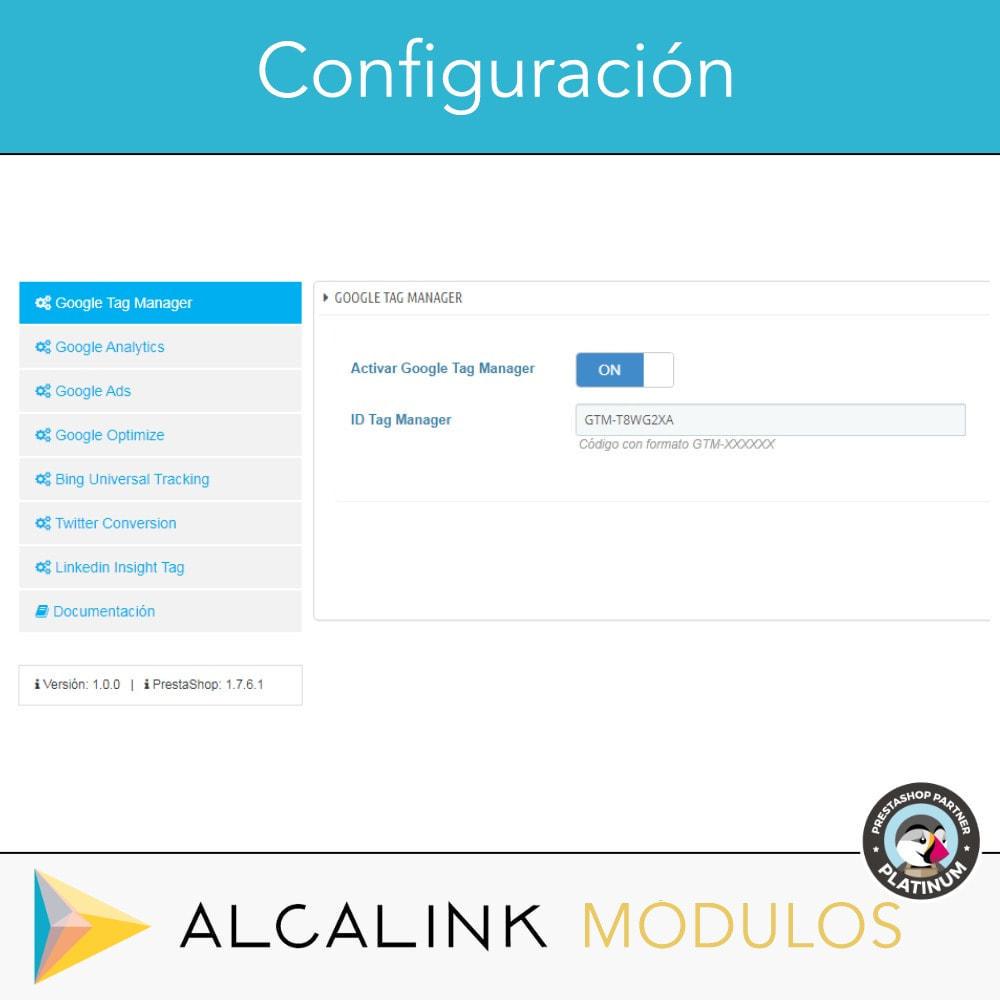 module - Informes y Estadísticas - Google Tag Manager + Complementos. Actividad usuarios. - 2