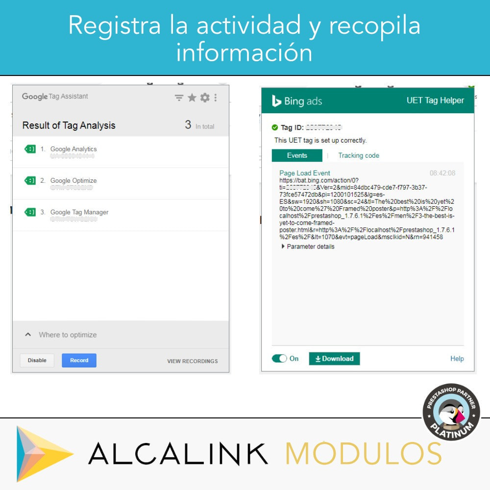 module - Informes y Estadísticas - Google Tag Manager + Complementos. Actividad usuarios. - 10