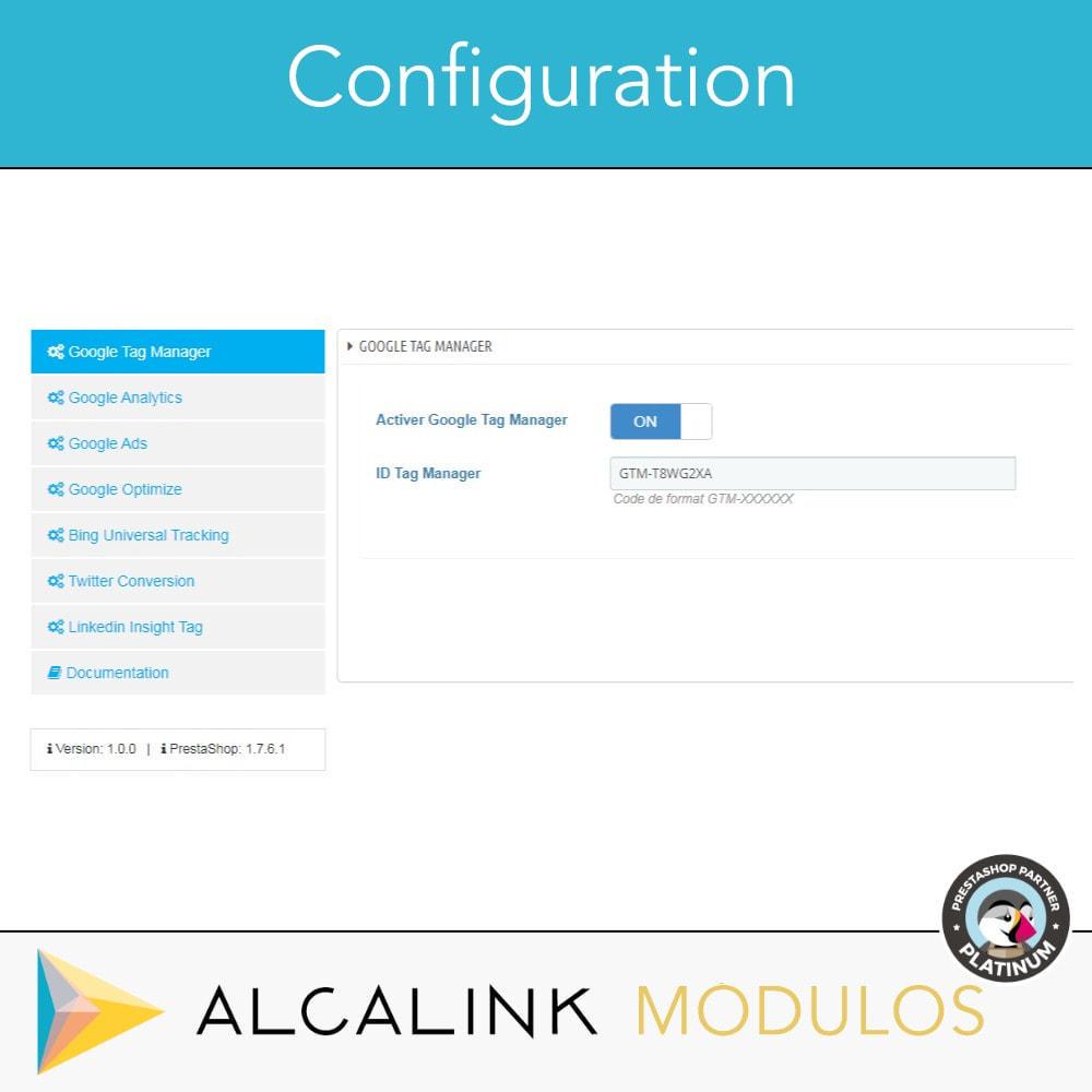 module - Analyses & Statistiques - Google Tag Manager + Add-ons. Activité de l'utilisateur - 2