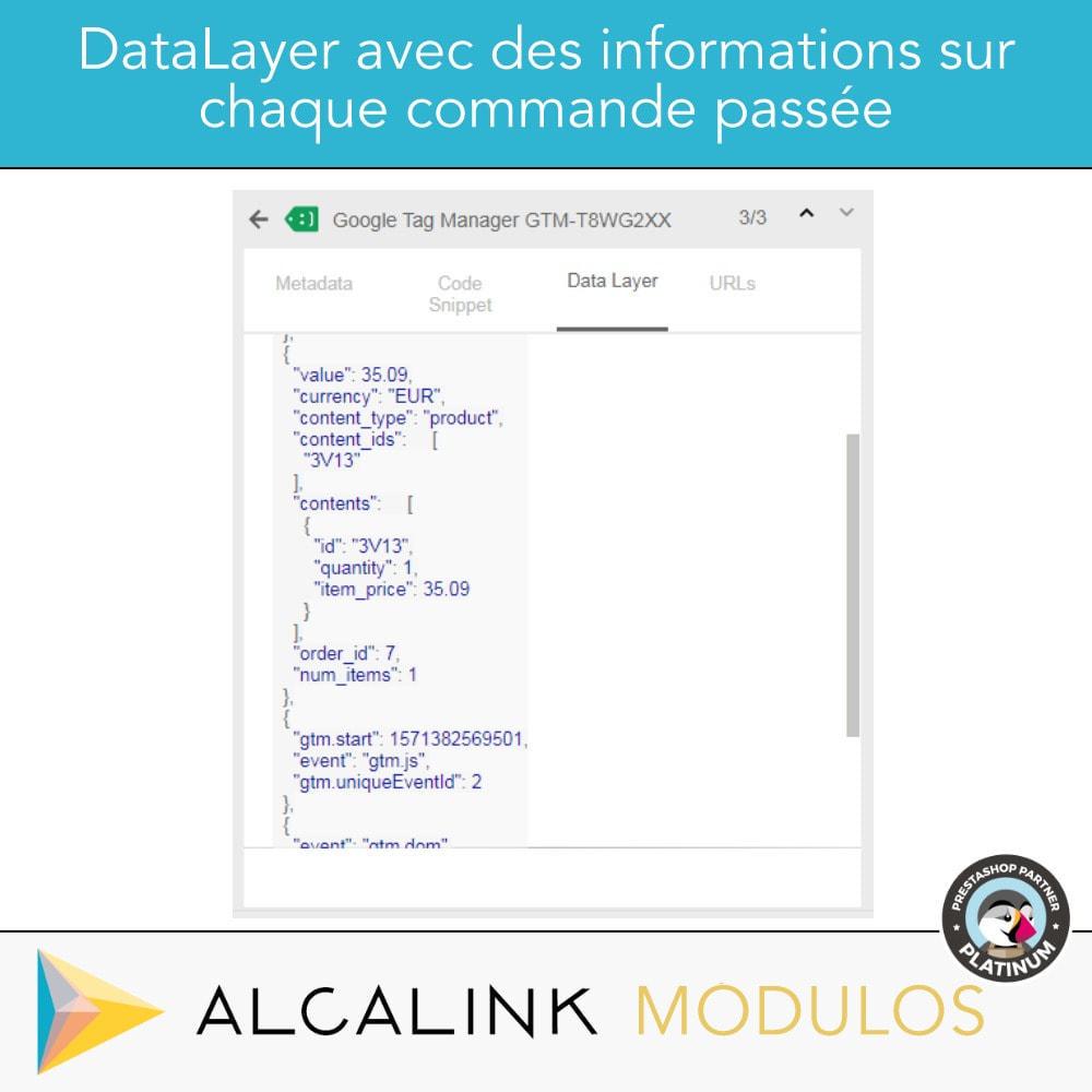module - Analyses & Statistiques - Google Tag Manager + Add-ons. Activité de l'utilisateur - 3