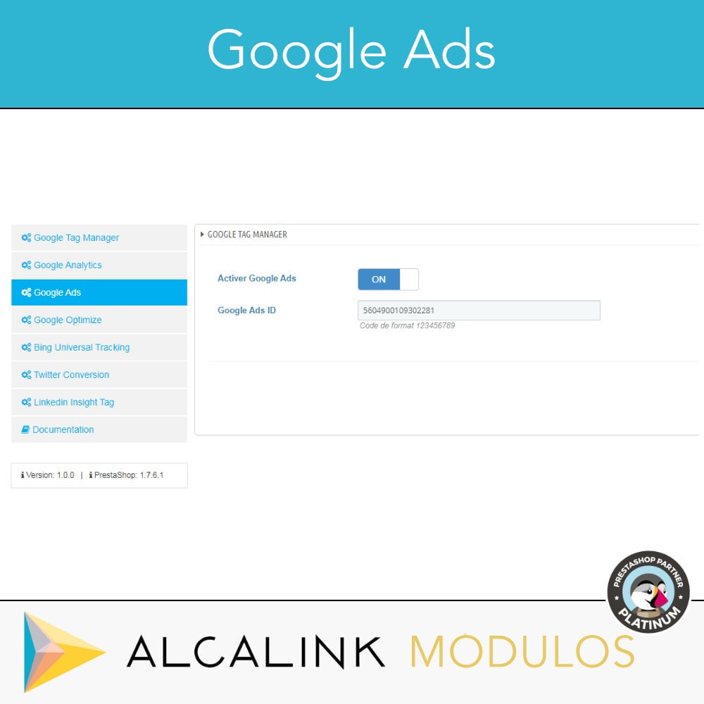 module - Analyses & Statistiques - Google Tag Manager + Add-ons. Activité de l'utilisateur - 5