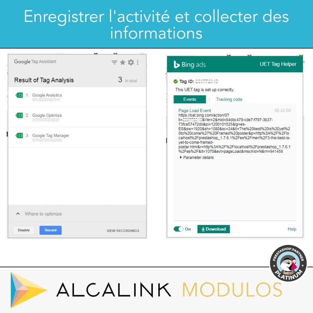 module - Analyses & Statistiques - Google Tag Manager + Add-ons. Activité de l'utilisateur - 10