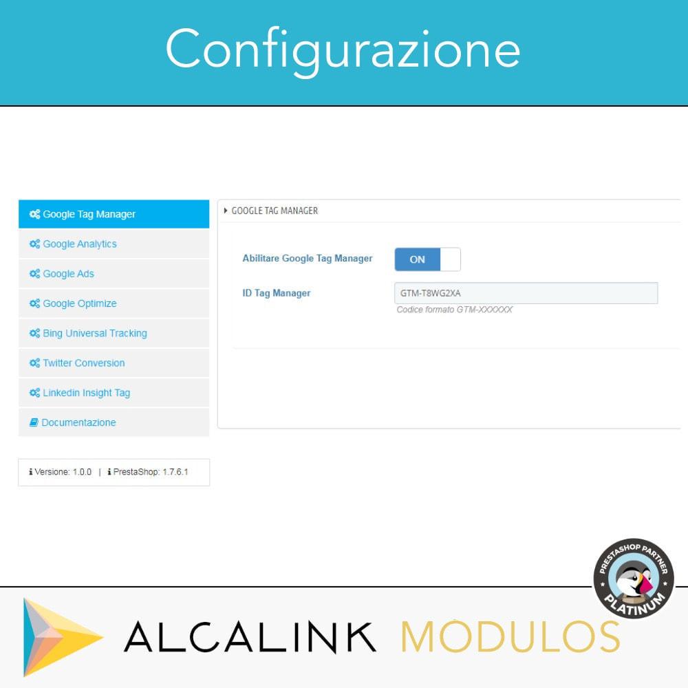 module - Analytics & Statistiche - Google Tag Manager + complementi. Attività dell'utente - 2