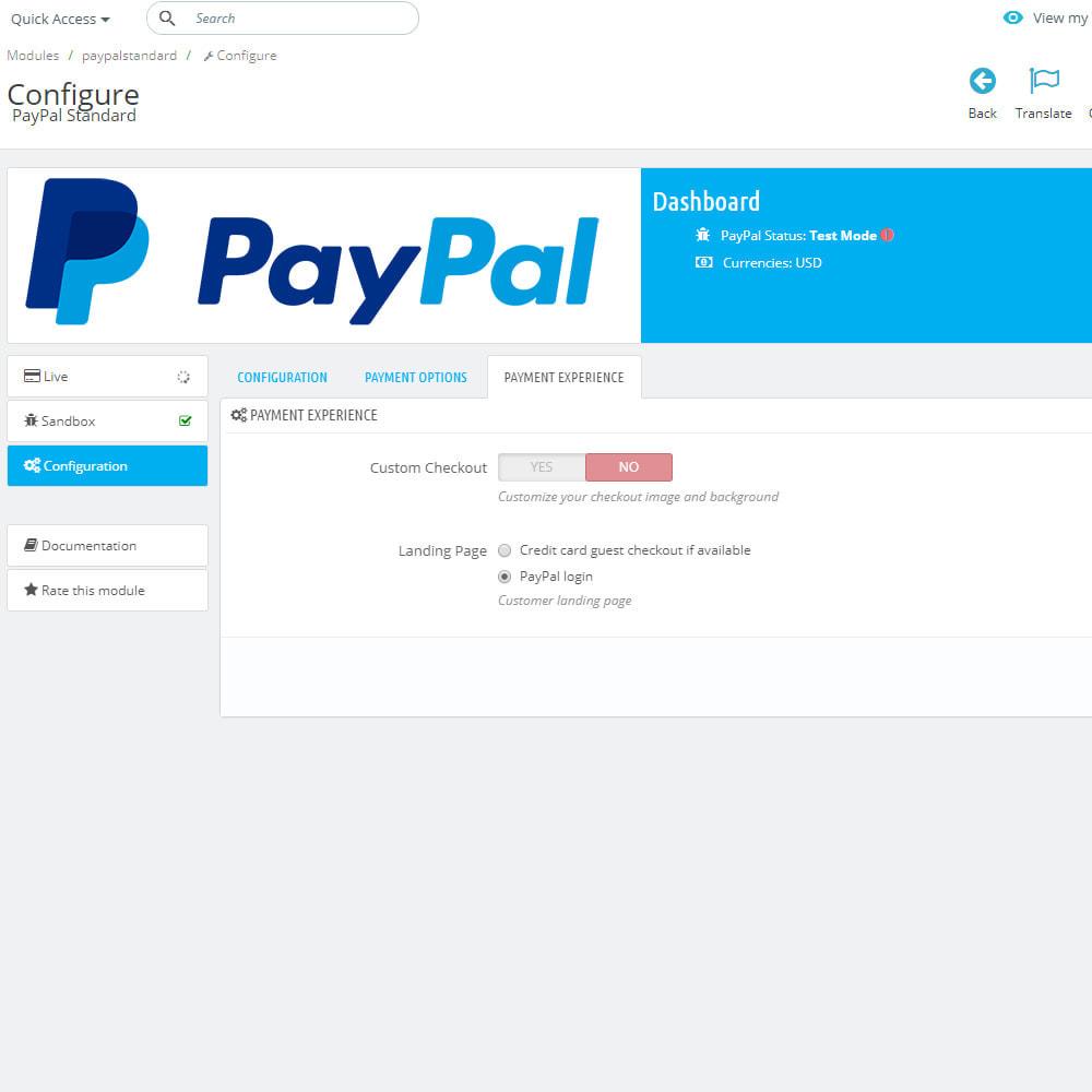 module - Pago con Tarjeta o Carteras digitales - PayPal Standard - 6