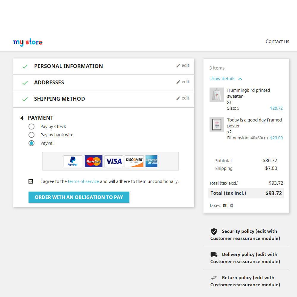 module - Pago con Tarjeta o Carteras digitales - PayPal Standard - 11