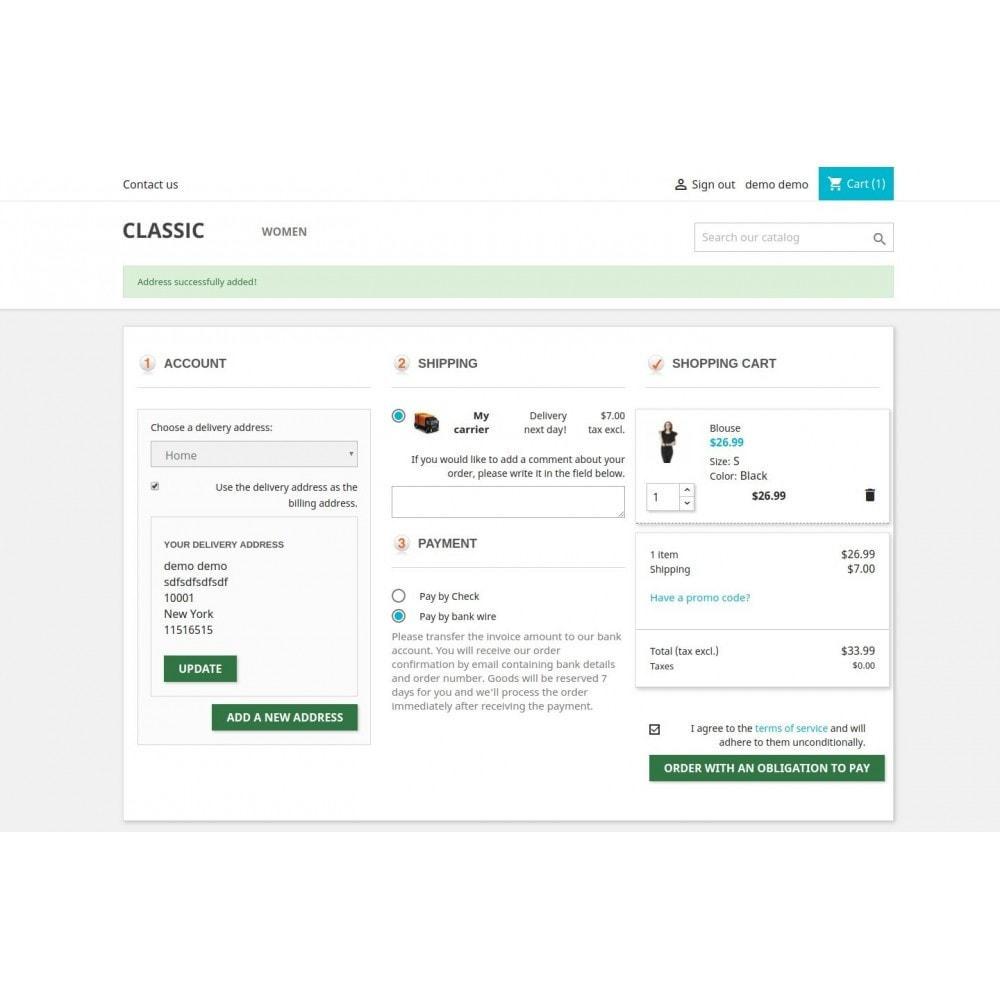 module - Proceso rápido de compra - One Page Checkout - Responsive - 5