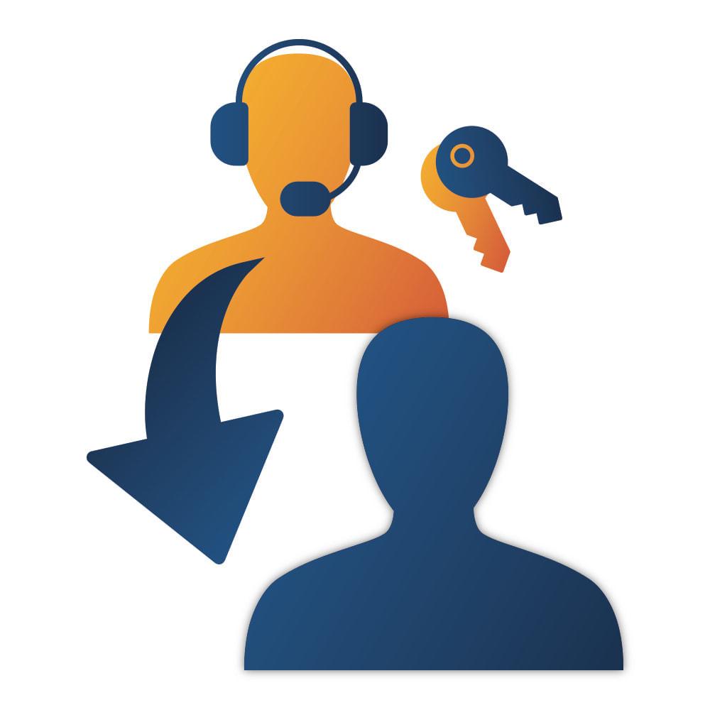 module - Cadastro e Processo de Pedido - Easy login as Customer - 1