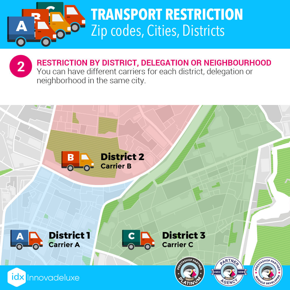 module - Vervoerder - Restricting Carriers by Zip Code, District, or City - 3