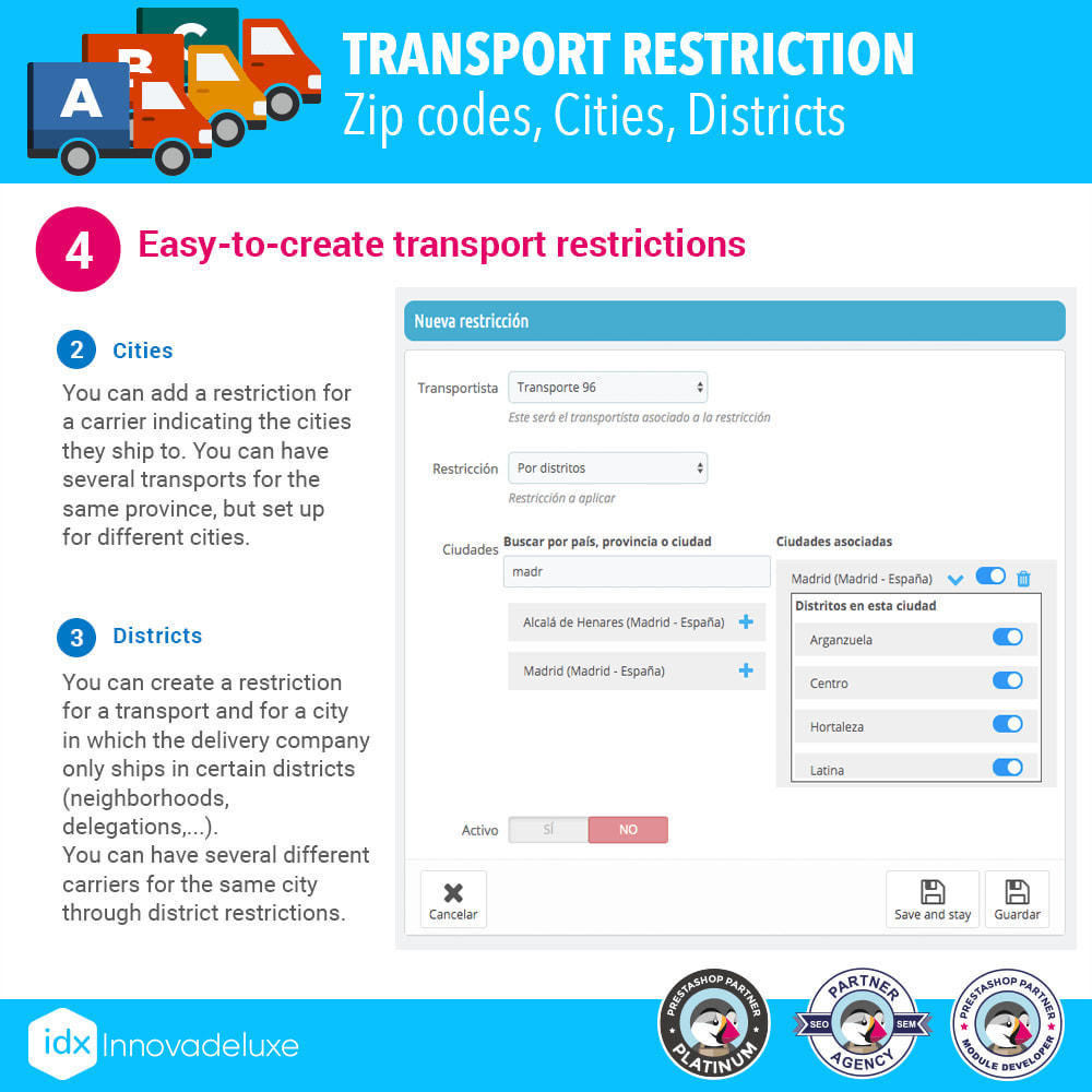 module - Vervoerder - Restricting Carriers by Zip Code, District, or City - 6