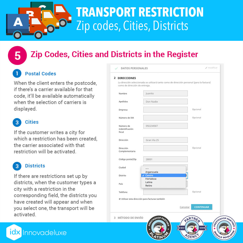 module - Vervoerder - Restricting Carriers by Zip Code, District, or City - 7