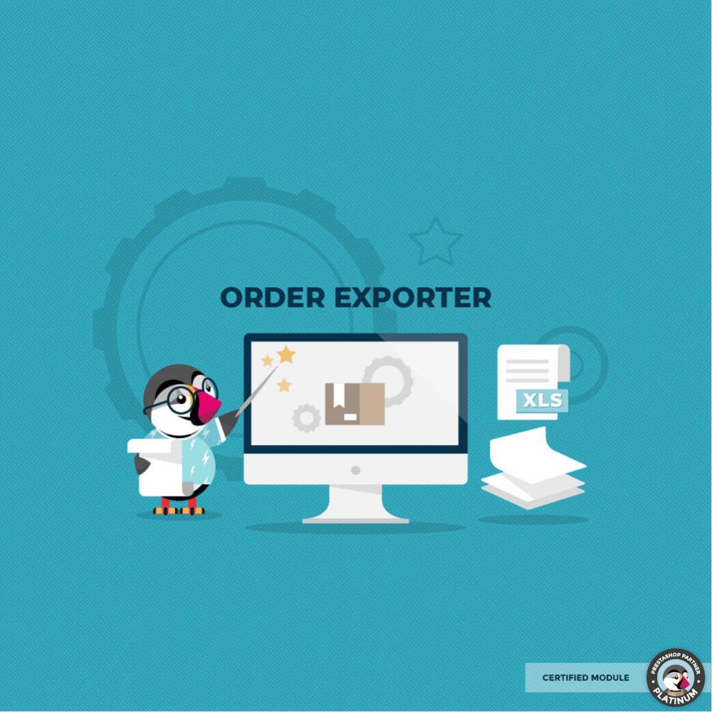 module - Importação & exportação de dados - Export Orders - 1