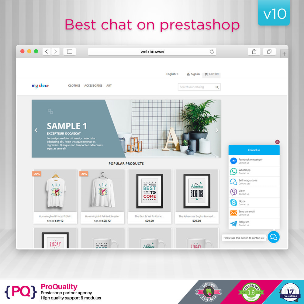 module - Supporto & Chat online - Live Chat Pro (All in One Messaging) - 2
