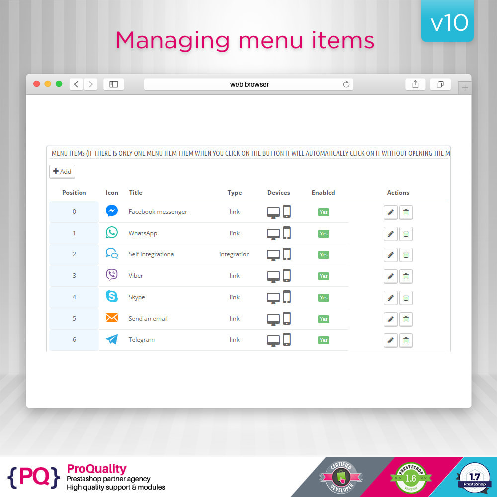 module - Supporto & Chat online - Live Chat Pro (All in One Messaging) - 5