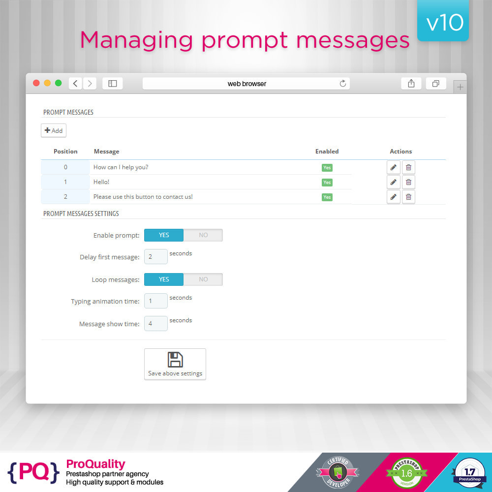 module - Supporto & Chat online - Live Chat Pro (All in One Messaging) - 6