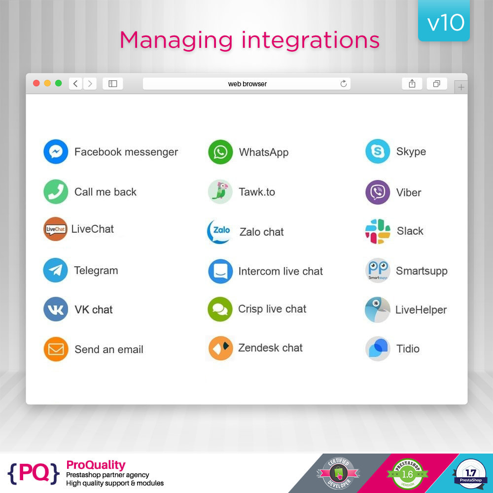 module - Supporto & Chat online - Live Chat Pro (All in One Messaging) - 8