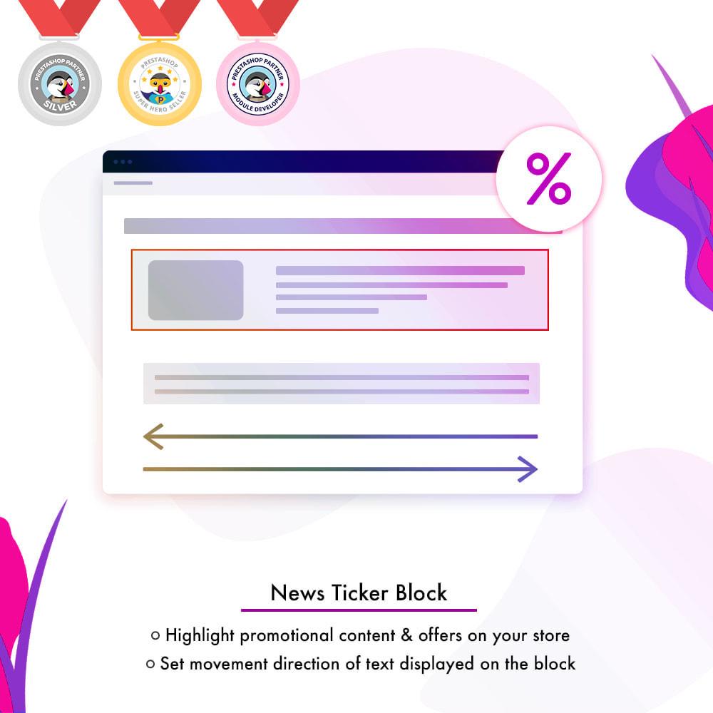 module - Инструменты навигации - News Ticker Block - News Scroll On Website - 1