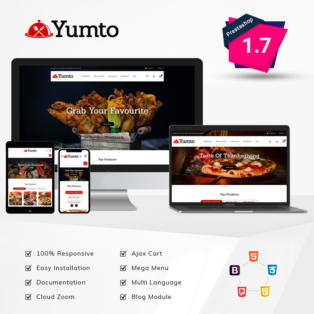 theme - Lebensmittel & Restaurants - Yumto - Food Store - 1