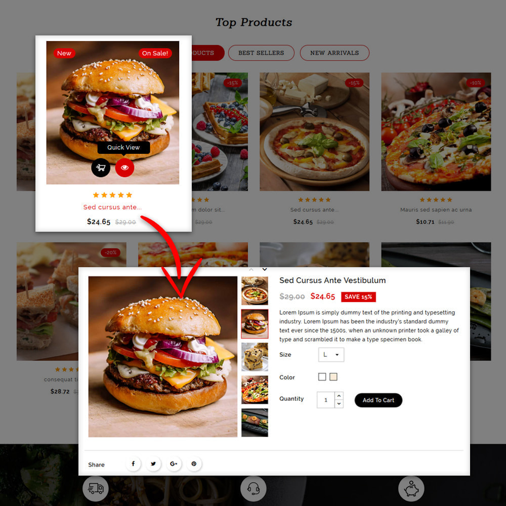 theme - Lebensmittel & Restaurants - Yumto - Food Store - 9