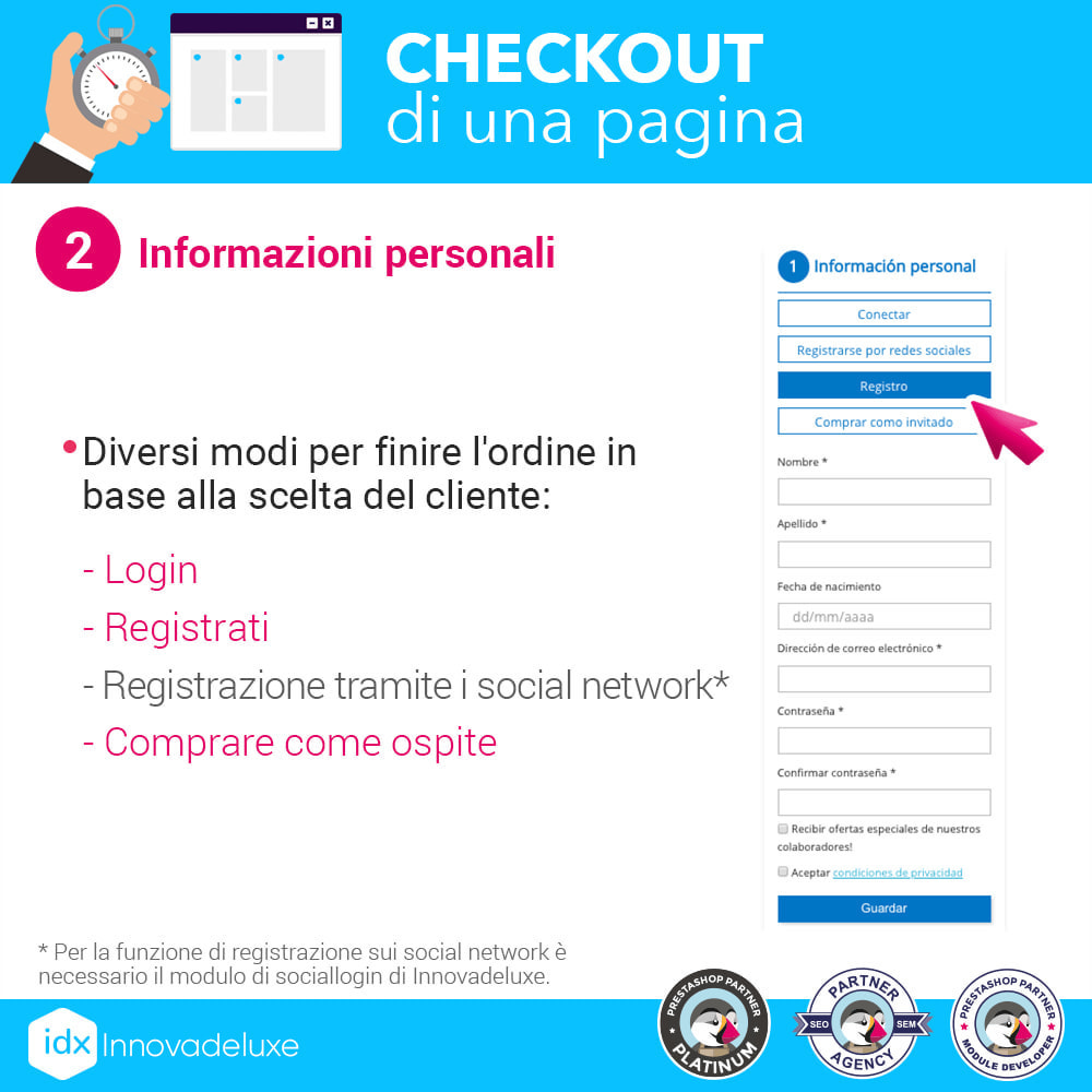 module - Express Checkout - Checkout in una pagina - Processo di acquisto veloce - 3