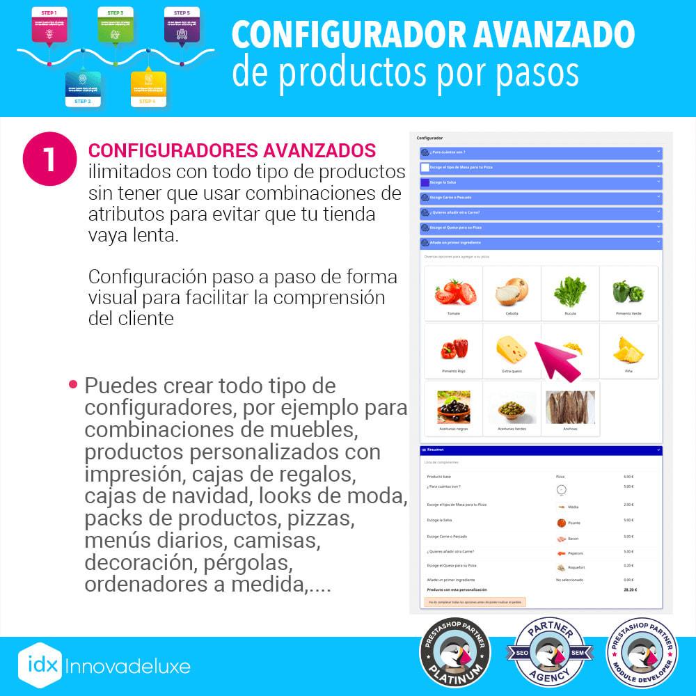 module - Combinaciones y Personalización de productos - Configurador avanzado de productos por pasos - 2