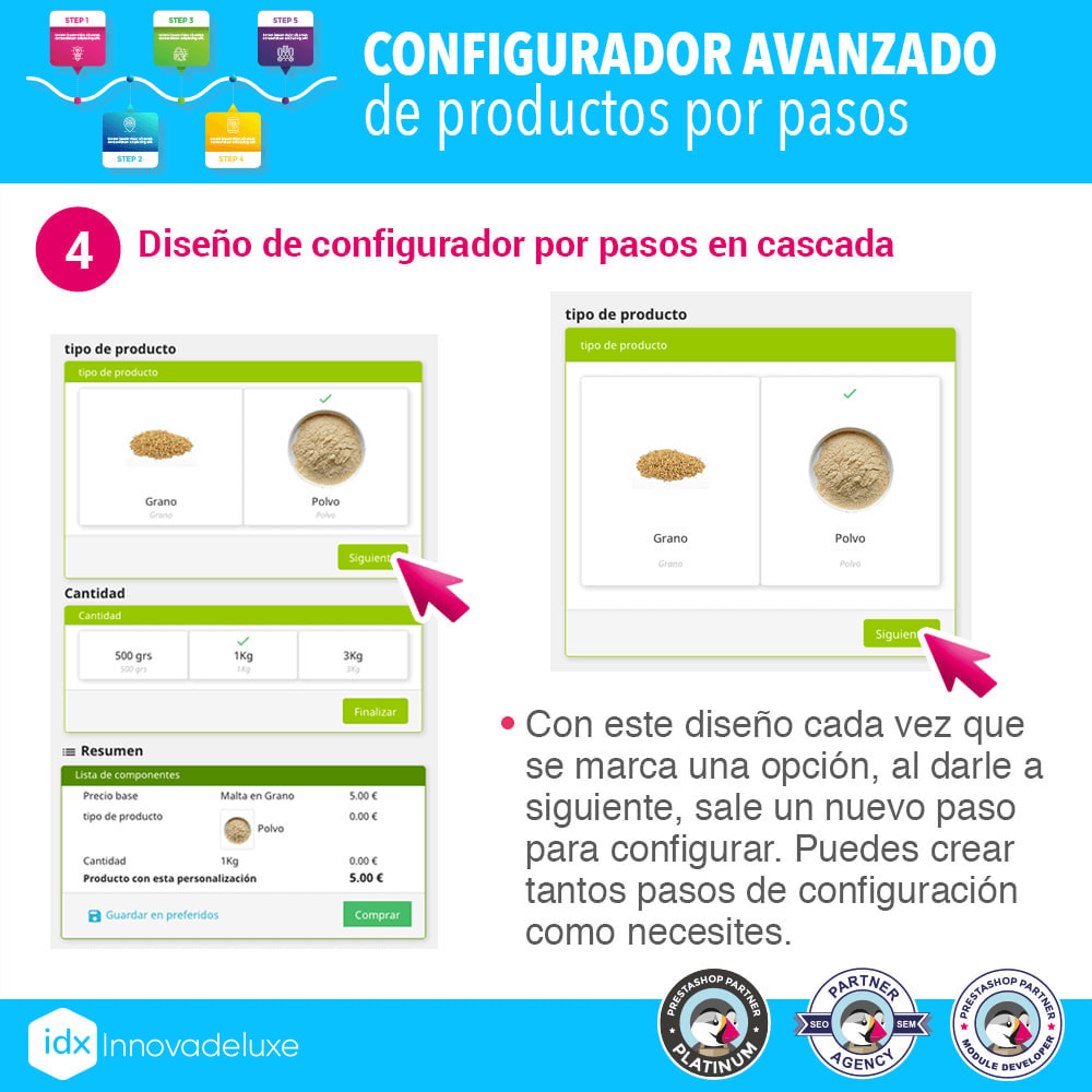 module - Combinaciones y Personalización de productos - Configurador avanzado de productos por pasos - 5