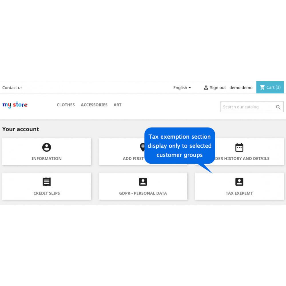 module - Gestione clienti - Esenzione Tassa: Esenziona clienti e gruppi specifici - 3