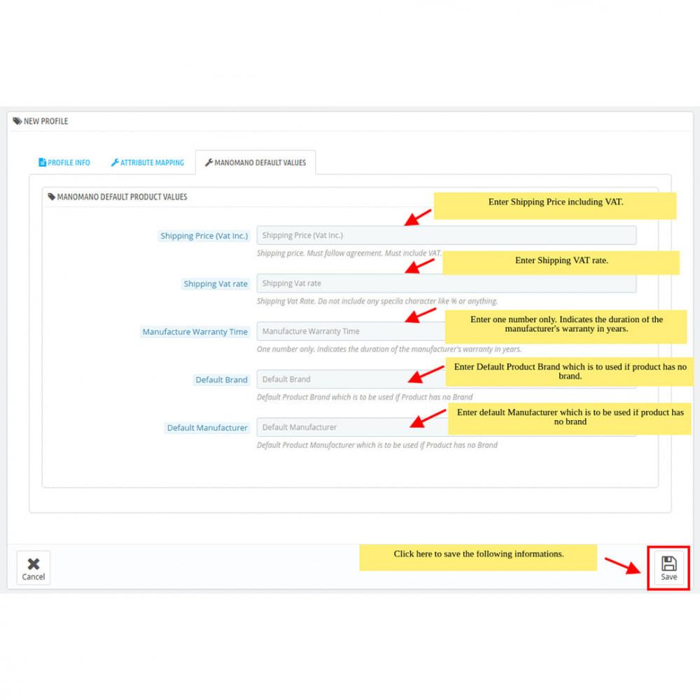 module - Marktplätze - ManoMano Integration - 10