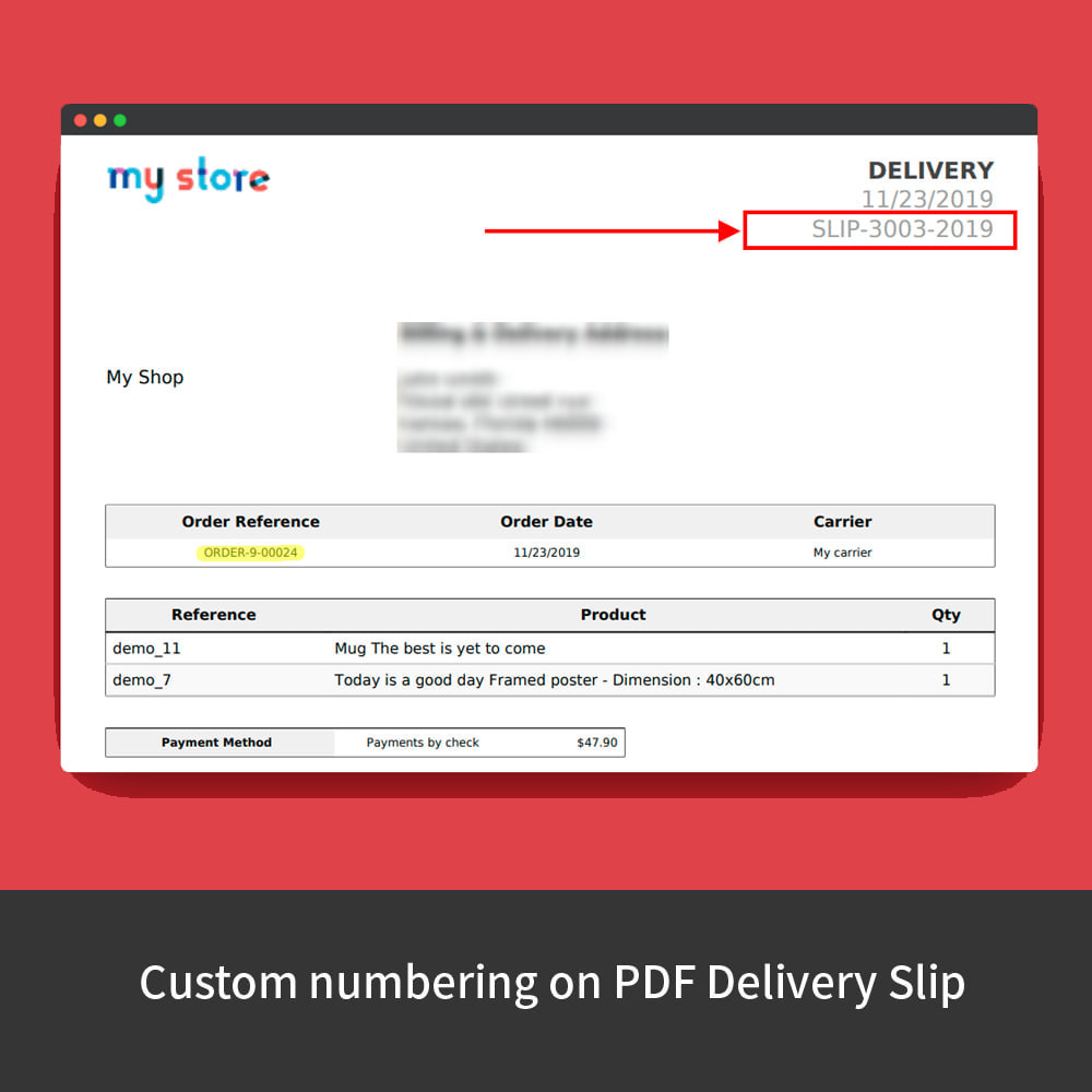 module - Contabilidad y Facturas - Custom Order Numbers - 9