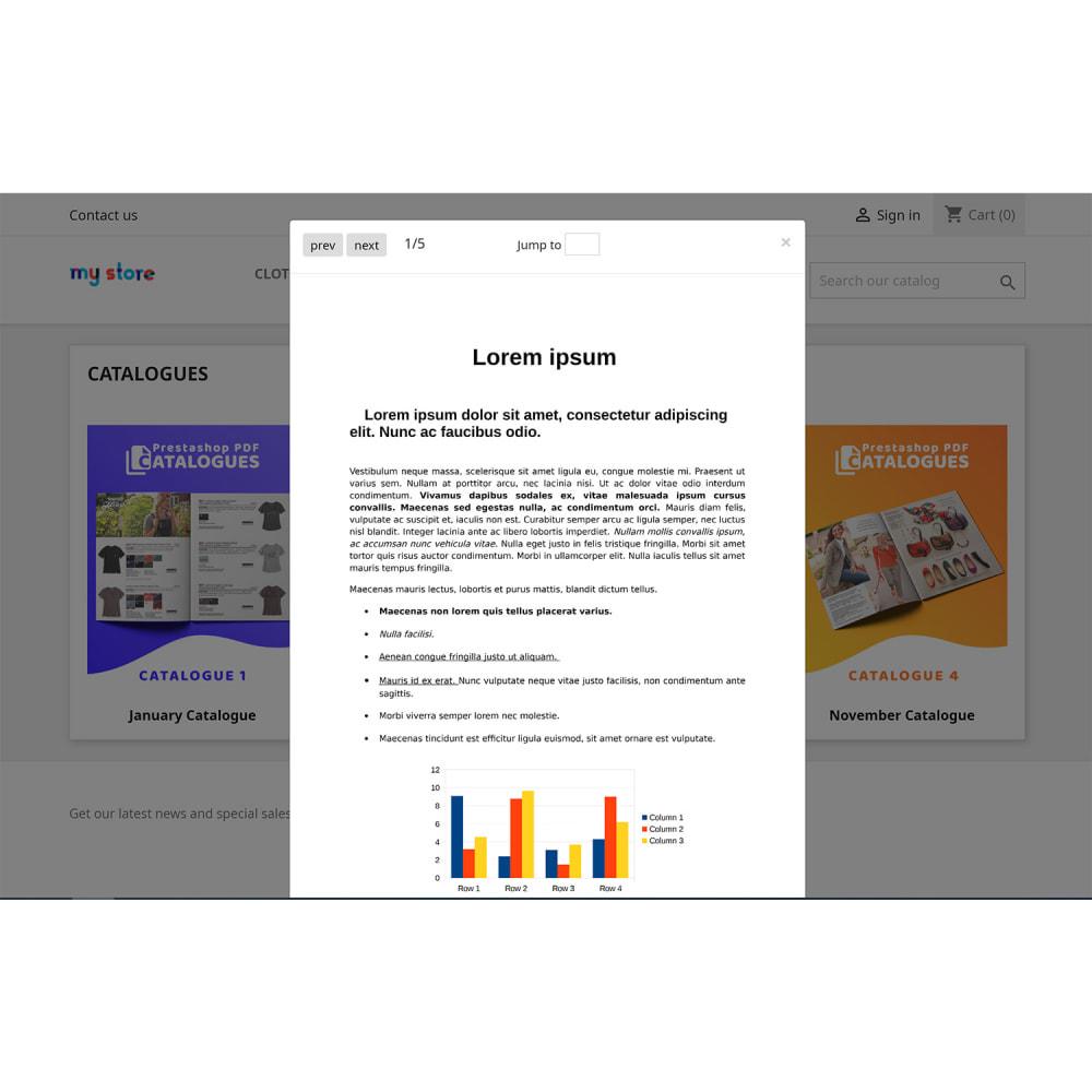 module - Personalización de la página - Dedicated PDF Catalogues Viewer Page - 2