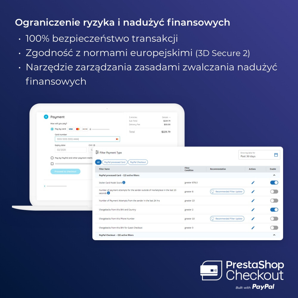 module - Płatność kartą lub Płatność Wallet - PrestaShop Checkout built with PayPal - 4
