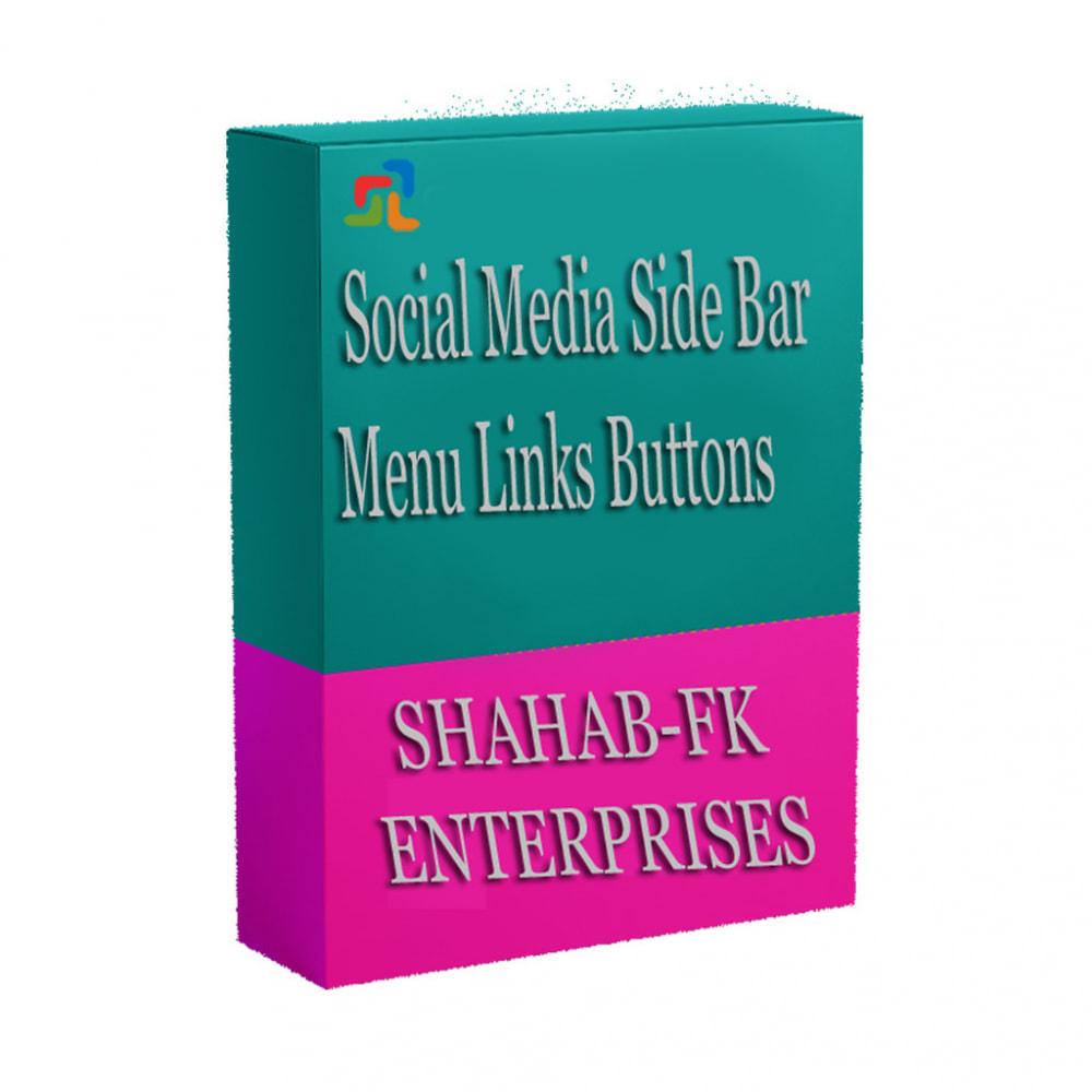 module - Widgets sozialer Netzwerke - Social Media Sidebar Links Buttons - 7