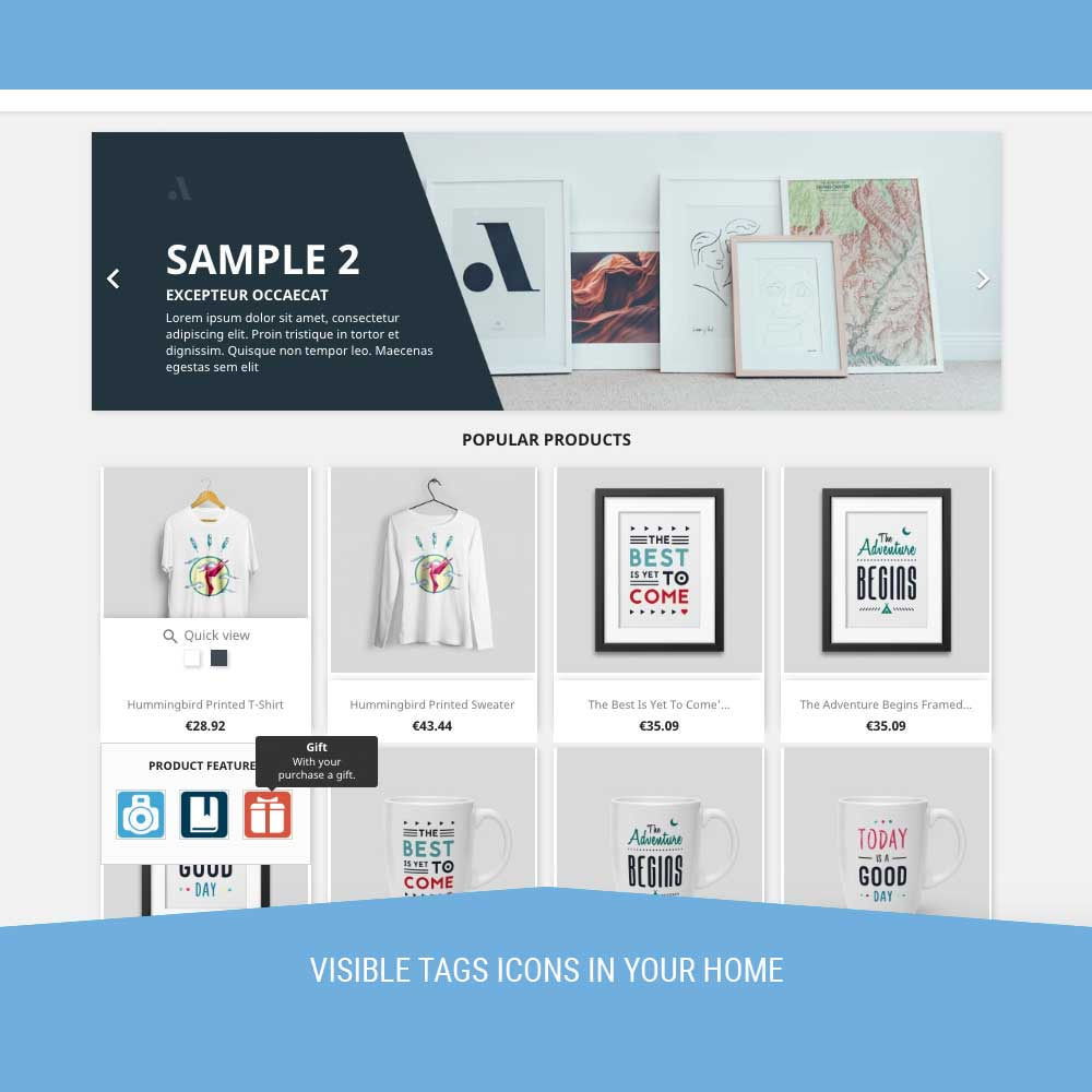 module - Badges & Logos - Icon Tags for products - 6