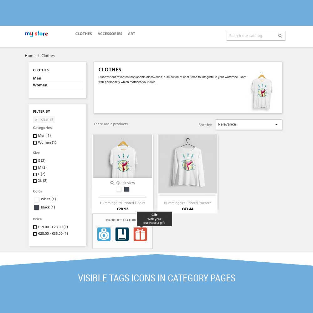 module - Badges & Logos - Icon Tags for products - 7