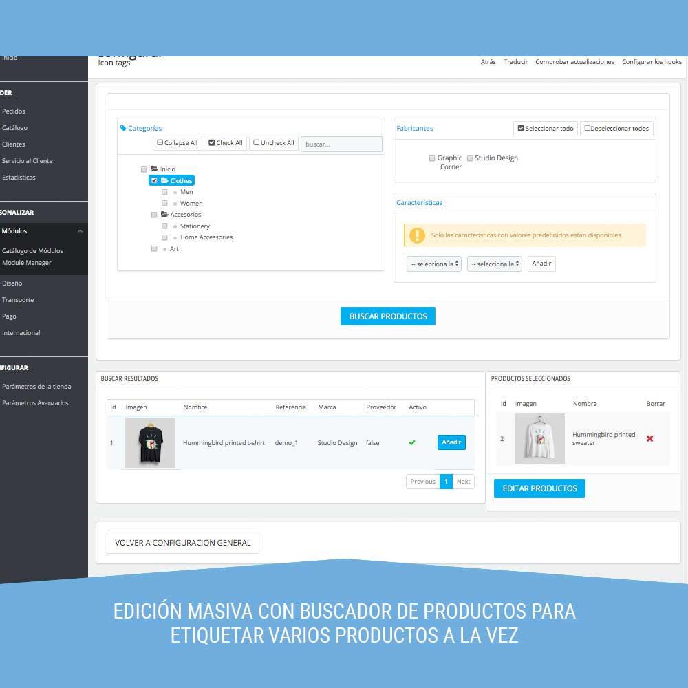 module - Etiquetas y Logos - Icon tags para Productos - 3