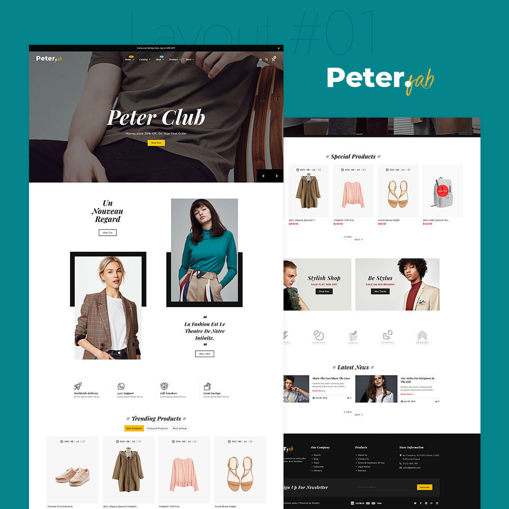 theme - Mode & Schoenen - Peter - Fashion Boutique For Creatives - 2