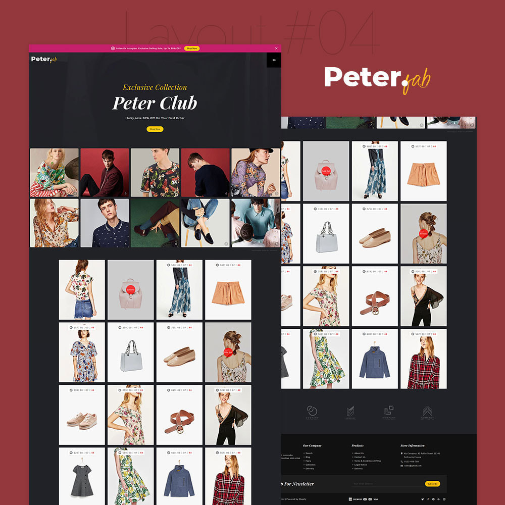 theme - Mode & Schoenen - Peter - Fashion Boutique For Creatives - 5