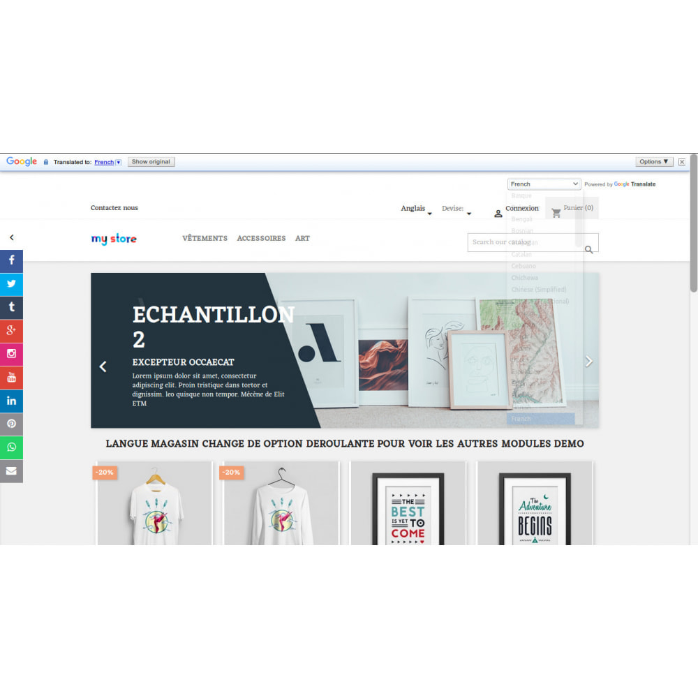 module - Lingue & Traduzioni - Google Translation of Store in oltre 100 lingue - 8