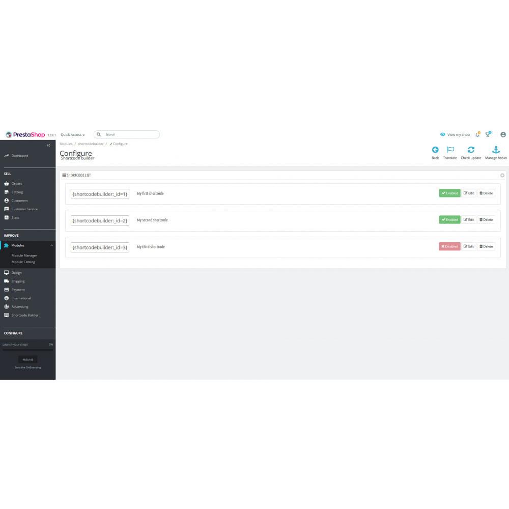 module - SEO (référencement naturel) - Shortcode Builder - 1