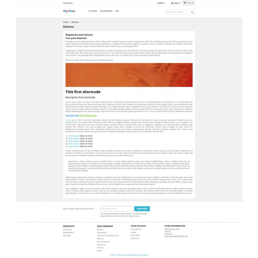 module - SEO (référencement naturel) - Shortcode Builder - 3