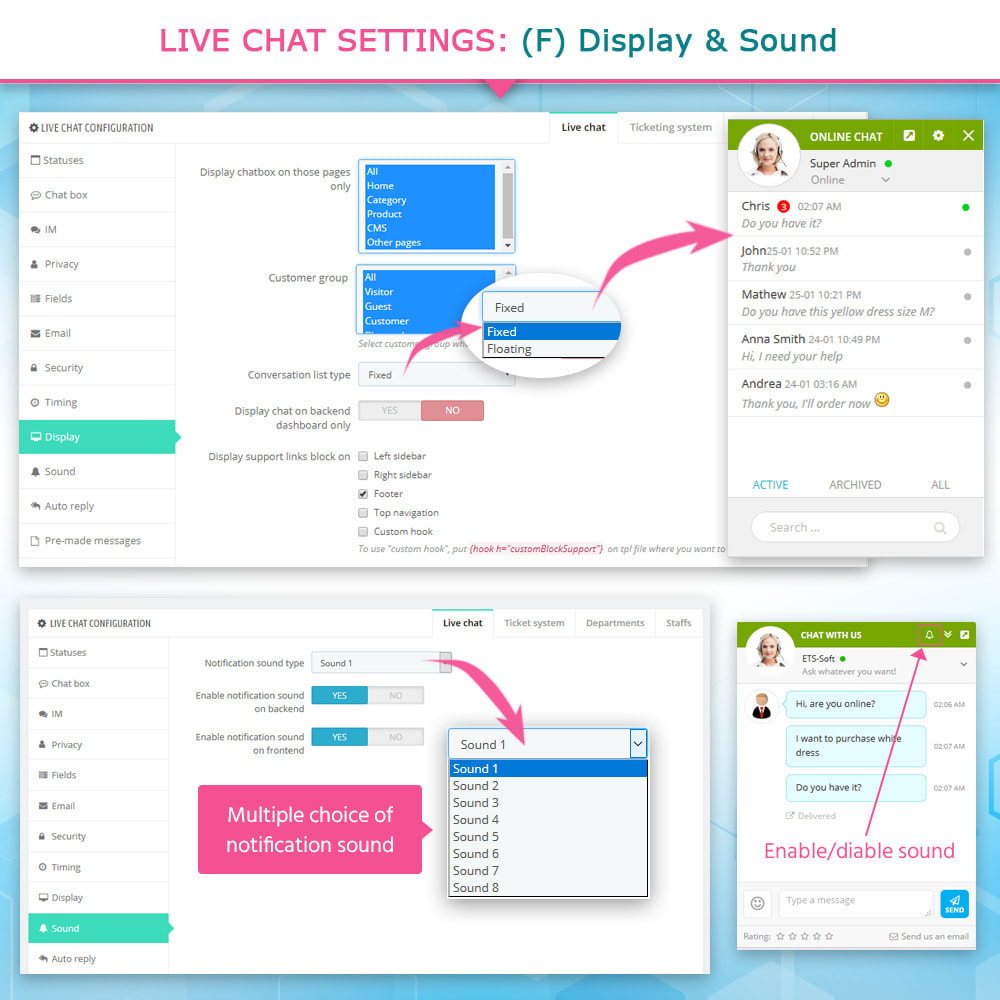 module - Suporte & Chat on-line - Live Chat, Contact form and Ticketing System - 9